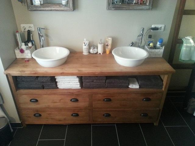 Badkamer Kast Handdoeken : Teak badkamerkast in alle maten verkrijgbaar teakhout maatwerk