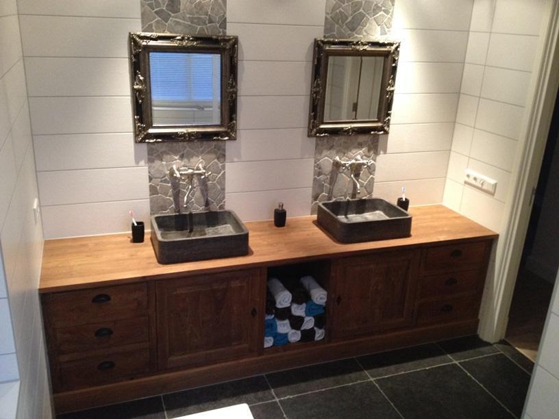 Idee?n Voor De Badkamer ~   badkamer tafels bekijk het product teak badkamerkast badkamer bekijk