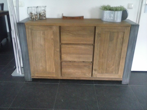 Industrieel Teak Dressoir