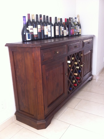 Super Koloniaal teak dressoir wijnkast in alle maten verkrijgbaar PE-39