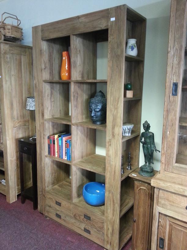 Modern teak boekenkast in alle maten verkrijgbaar | Teakhout Maatwerk