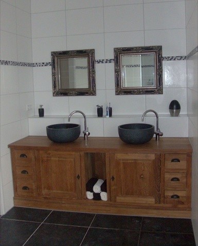 Werkblad badkamer maken